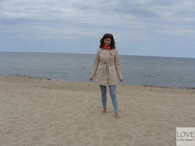 Karina na plaży w Gdańsku