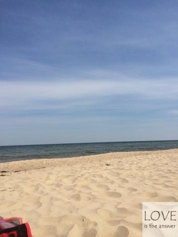 Plaża w Gdańsku latem