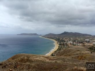 Porto Santo panorama na zachodnią stronę wyspy