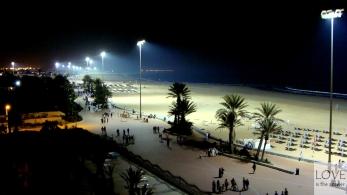 Promenada w Agadirze nocą