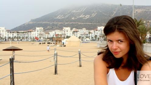 na plaży w Agadirze