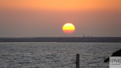 Zachód słońca na plaży w Agadirze
