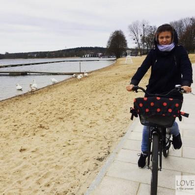 rowerami wokół jeziora Ukiel