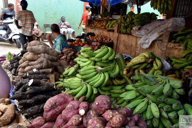 Owoce na targu w Higuey