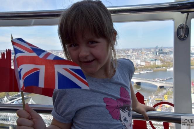 Maja szczęśliwa na London Eye