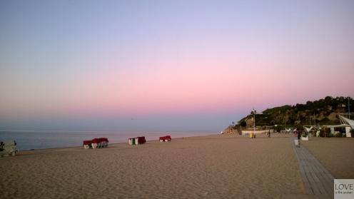Zachód słońca nad morzem Śródziemnym