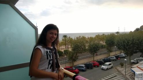 Widok na morze w Calelli