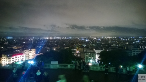 Nocna panorama Paryża spod Sacré-Cœur
