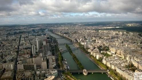 Panorama Paryża z wieży Eiffla