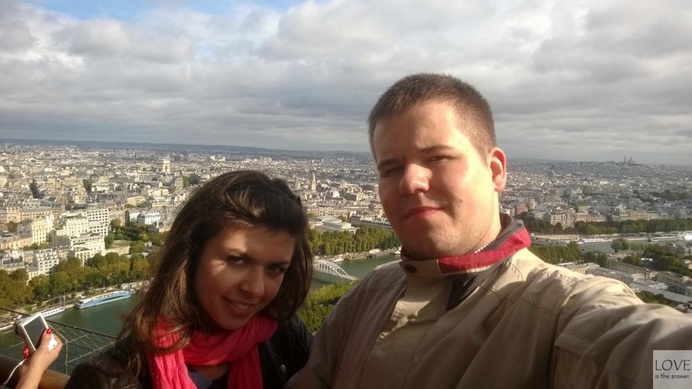 Na wieży Eiffla