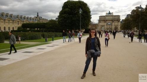 Ogród Tuileries koło Luwru