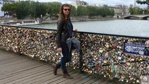 Most kłódek w Paryżu czyli - Pont des arts
