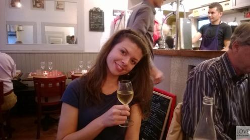Pyszne wino w L'ange 20 Paryż