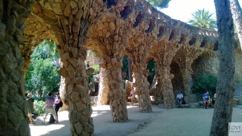Podcienie w Parku Güell - Barcelona