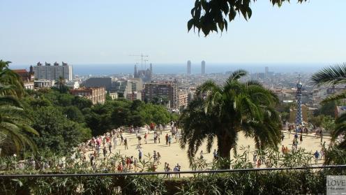 Park Güell i panorama Barcelony