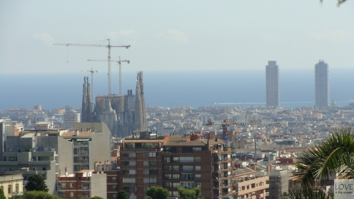 Widok na Sagrada Familia - Barcelona