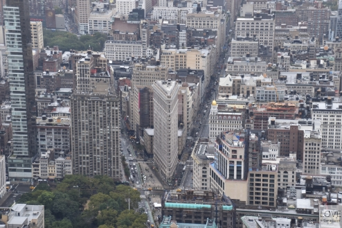 Flatiron widziany z Empire State Buliding