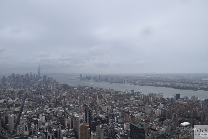 Panorama Manhattanu z Empire State Buliding