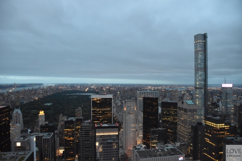 widok z Top of the Rock na Central Park