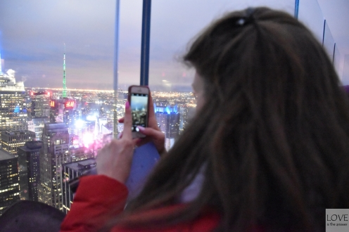 Karina na Top of the Rock