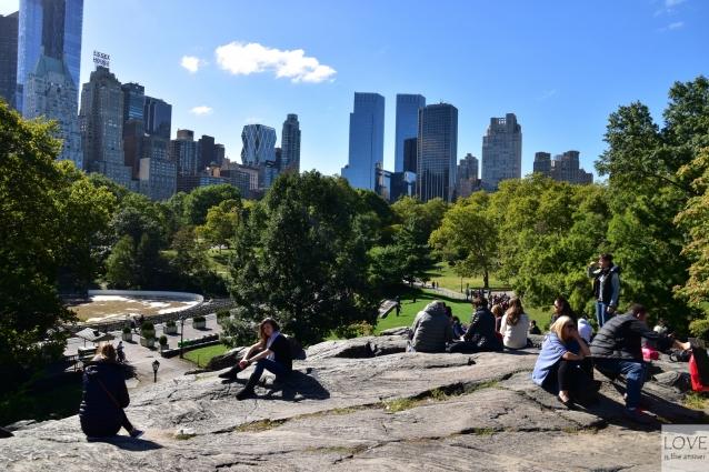 Widok na Manhattan z Central Parku