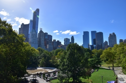 Central Park - Widok na wieżowce