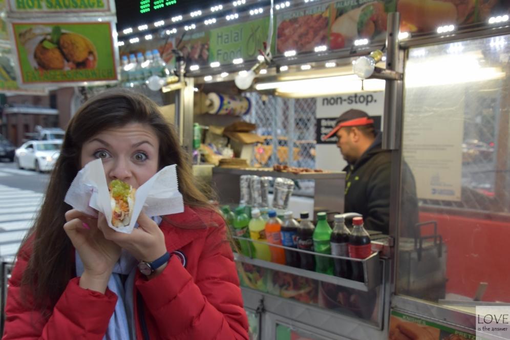 Amerykański hot-dog w Nowym Jorku