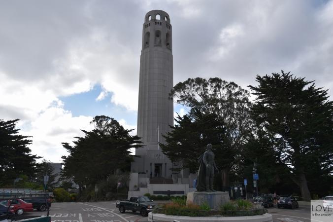 Coit Tower - wieża telegraficzna w San Francisco