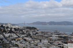 Golden Gate z Coit Tower