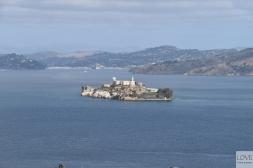 widok na Alcatraz z Coit Tower