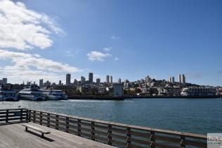 Panorama San Francisco z Pier 39