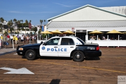 Radiowóz na molo w Santa Monica