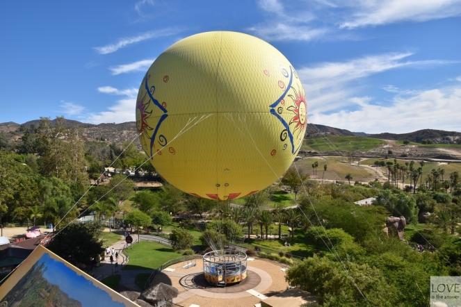 Lot balonem w San Diego Zoo Safari