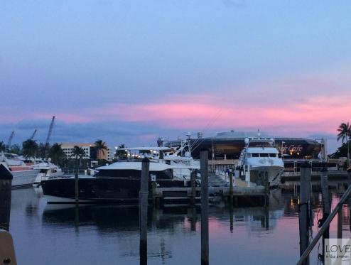 Zachód nad mariną w Miami