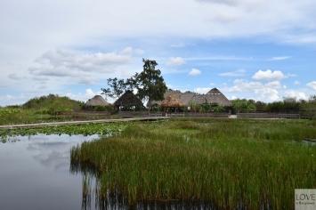 Indiańska wioska na mokradłach Everglades