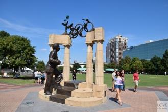 pomnik Pierre de Coubertin - Atlanta