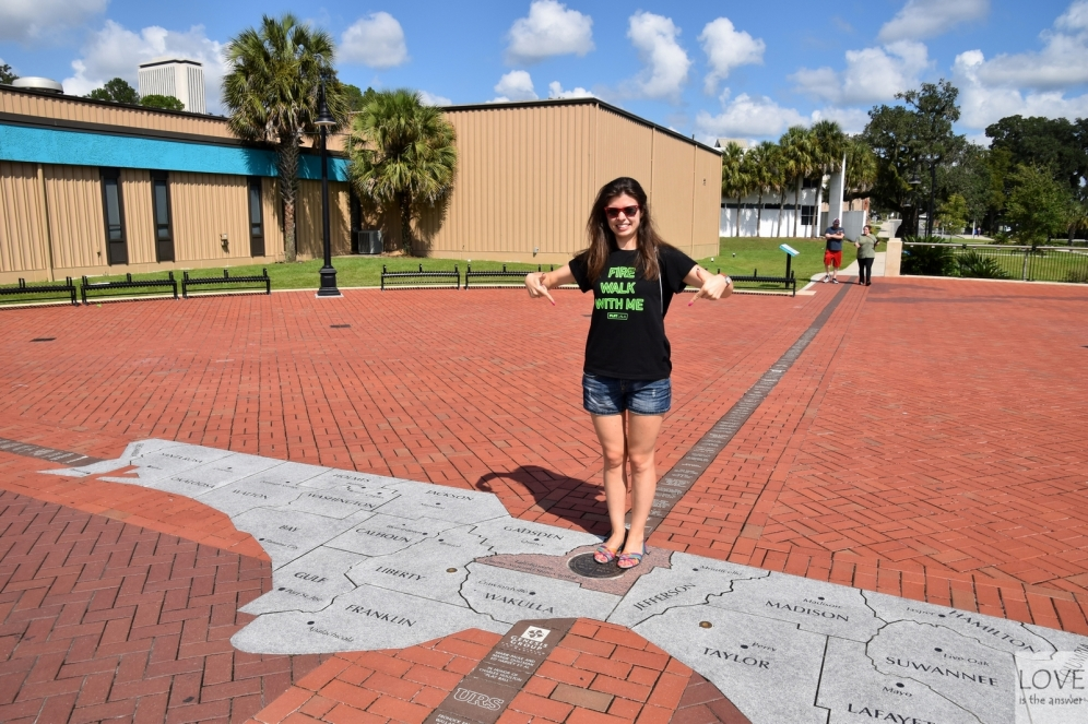 Mapa Florydy w parku w Tallahassee