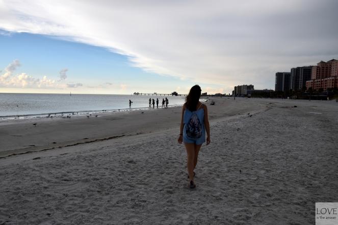 Karina na plaży w Clearwater
