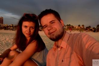 zachód słońca na plaży w Clearwater