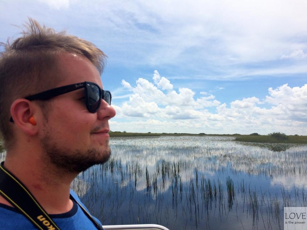 Na łodzi w Everglades