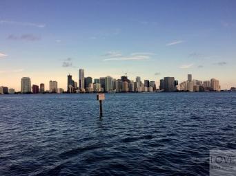 widok na Miami z grobli Rickenbacker