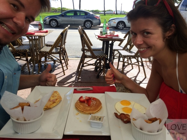 śniadanie w Miami :)