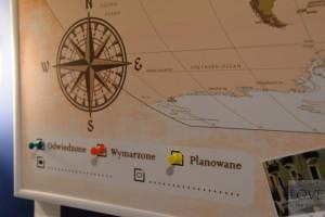 Mapa podróżników od PicArta.pl